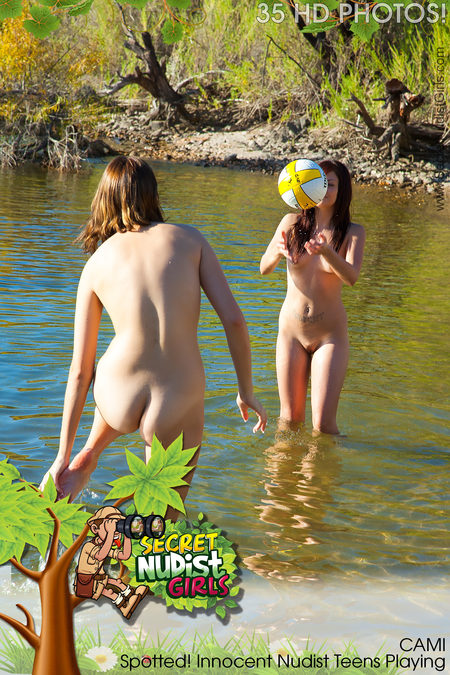 Cami Spotted! Innocent Nudist Teens Playing