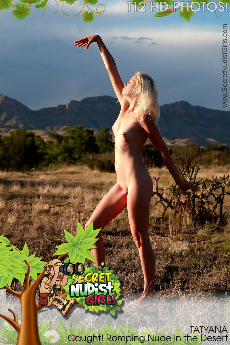 FREE PREVIEW Tatyana Caught! Romping Nude in the Desert
