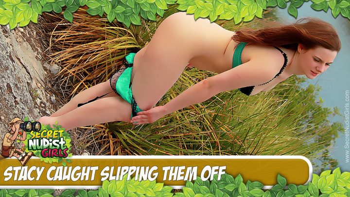 Stacy in Stacy Strip Tease in Nature - Play Video!
