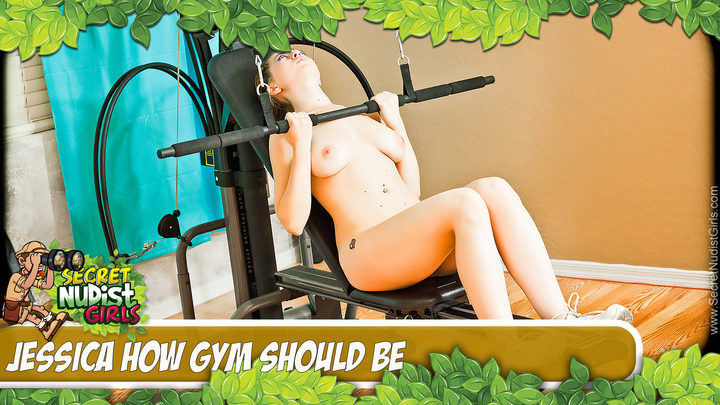 Jessica in Jessica Nude Gym Workout - Play Video!